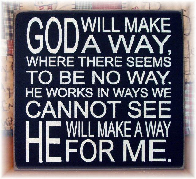 God will make a way