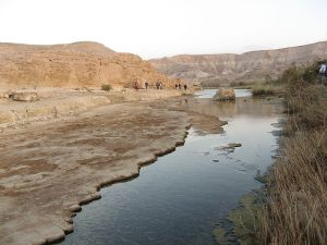 River in Negev desert