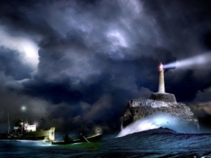 Moonlight-Lighthouse