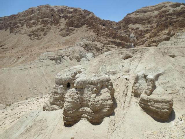 The caves at Qumran