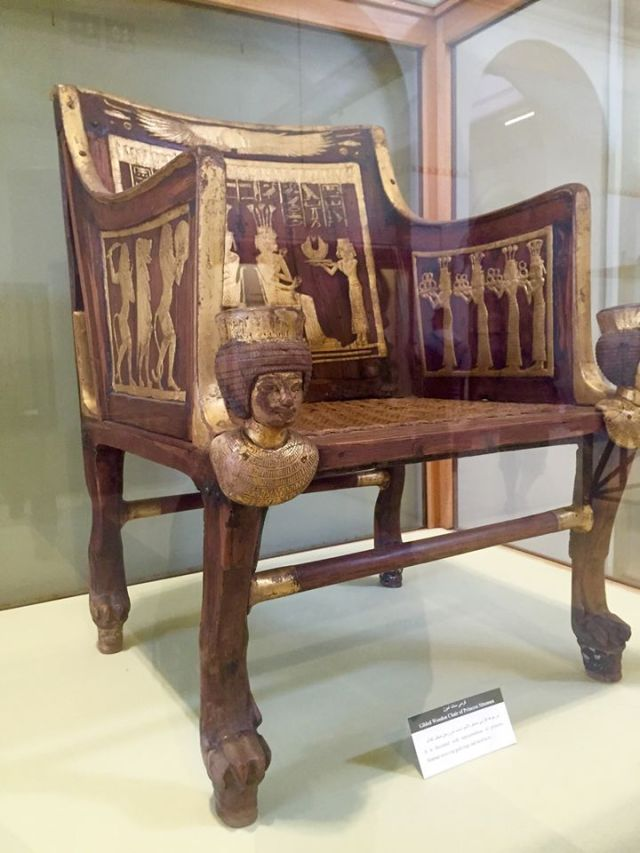 Phaorah's throne at Cairo Museum